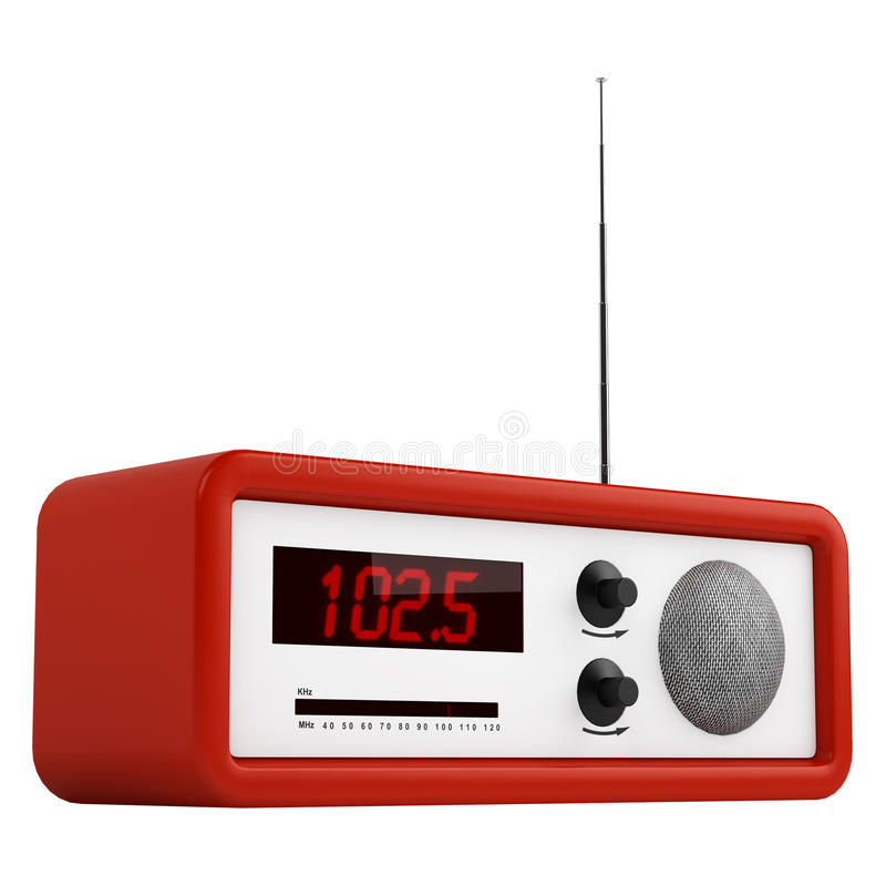 Red Portable Transistor Radio Royalty Free Stock Photography