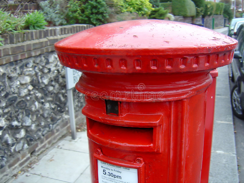 Download Red Post Box stock image. Image of postbox, english, pillarbox - 51263
