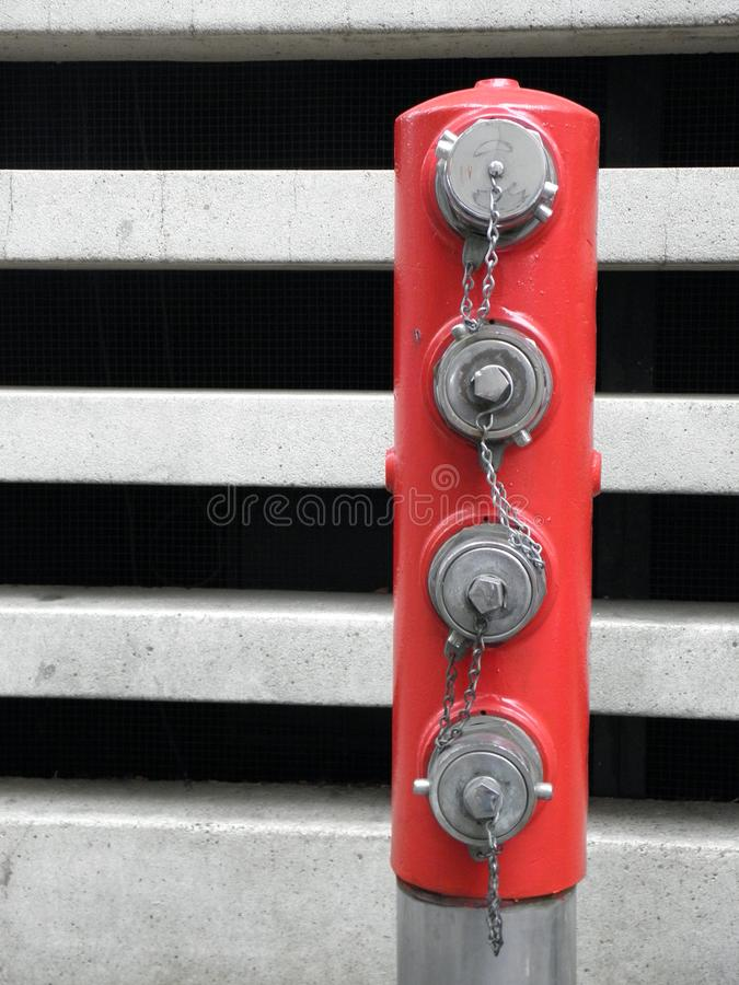 Download Red Post W/ Fire Hose Plugs In Portland, Oregon Stock Image - Image of combustion, water: 104799245