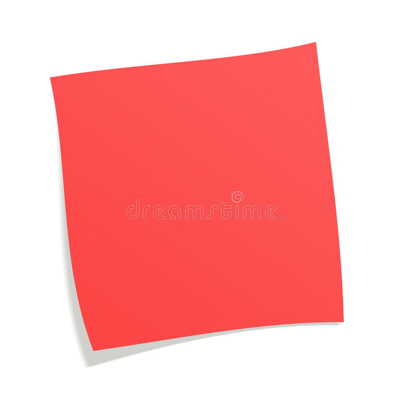 Red Postit Stock Image Image Of Todo Priority