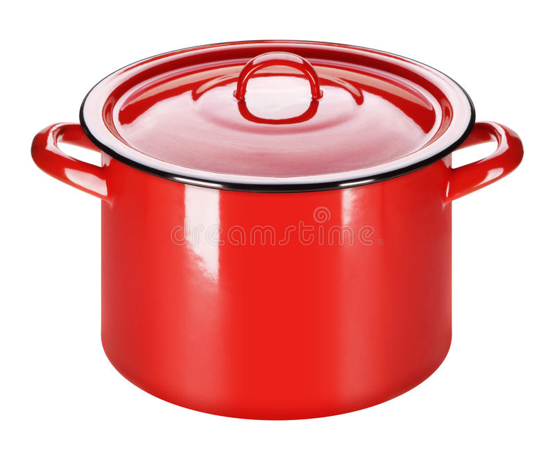 Red pot royalty free stock photo