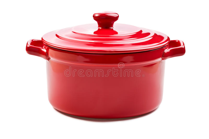 Download Red Pot With Cover Royalty Free Stock Photography - Image: 18133697