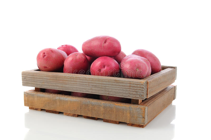 Download Red Potatoes In A Wood Crate Royalty Free Stock Photo - Image: 25193065