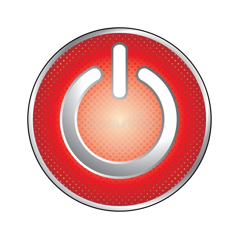 Red power button icon royalty free illustration