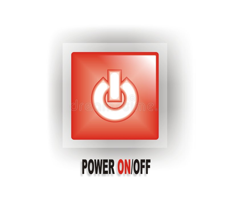 Download Red Power ON/OFF Button stock vector. Illustration of turn - 3155550