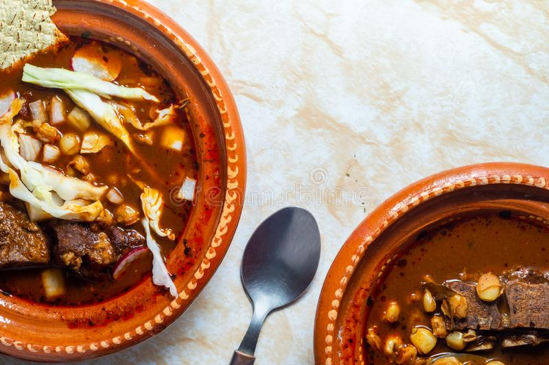 Red pozole stock image