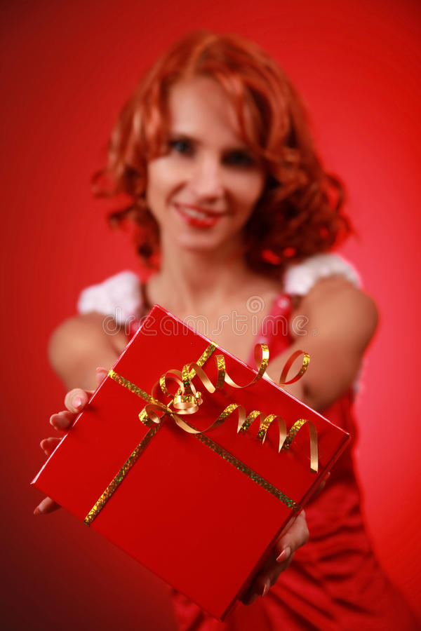 Red Present Stock Photography