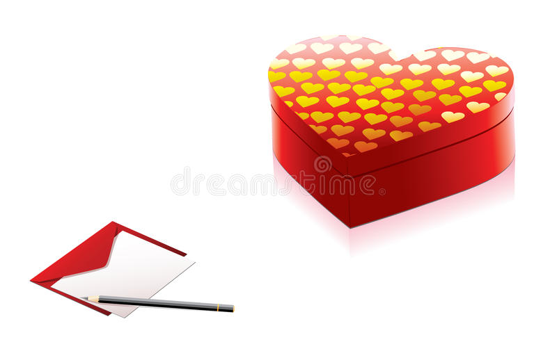 Download Red present box stock vector. Image of decorative, holiday - 17809269