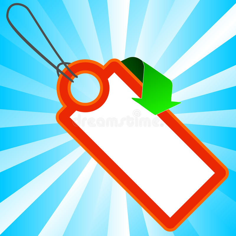 Red Price Tag With Arrow Stock Images