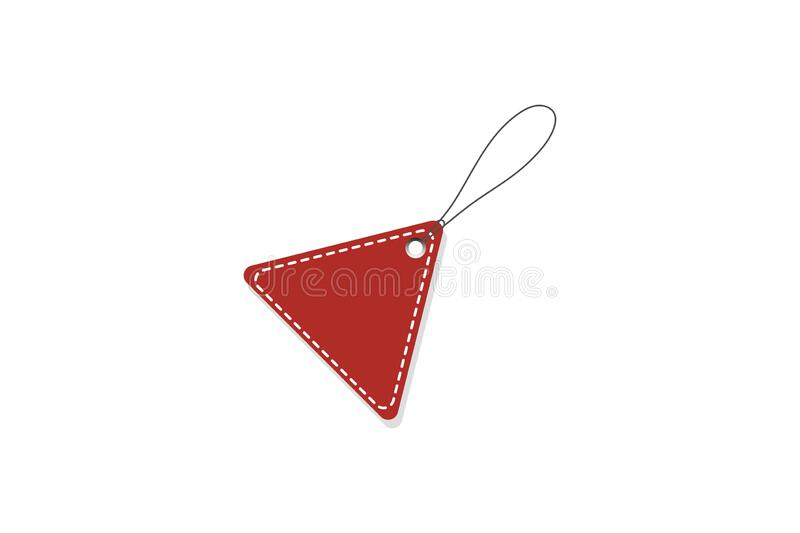 Red Price Tag. Vector illustration. Realistic discount tag, isolated. maga sale. royalty free stock image