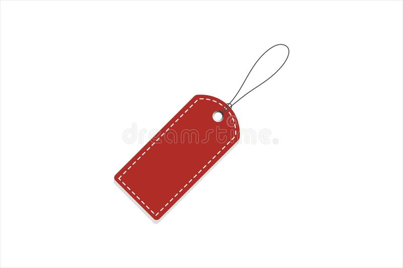 Red Price Tag. Vector illustration. Realistic discount tag, isolated. royalty free stock images