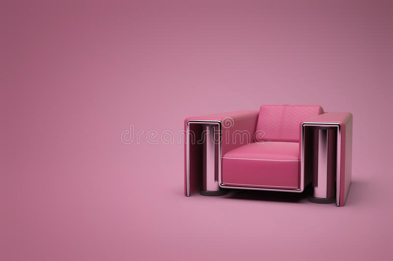 Download Red-purple leather chair stock illustration. Image of viole - 15113255