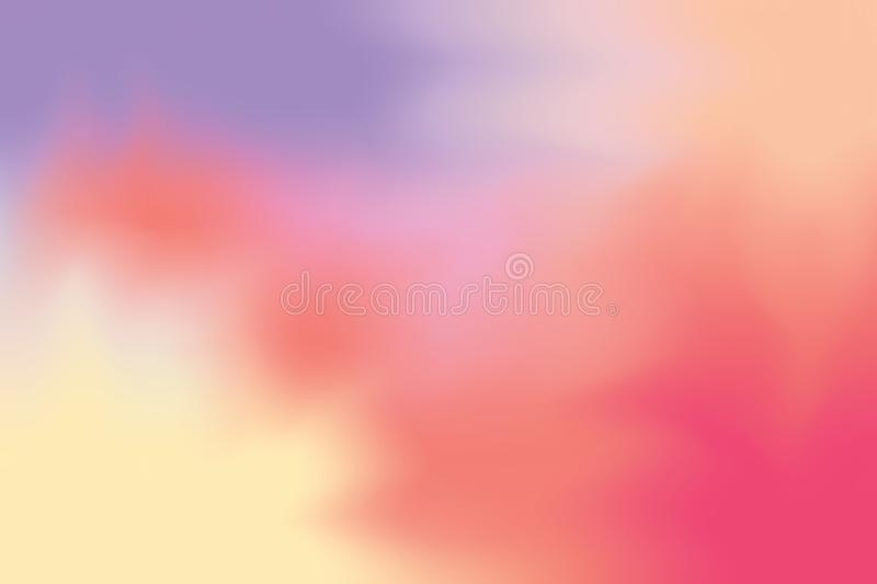 Red purple soft color mixed background painting art pastel abstract, colorful art wallpaper stock illustration