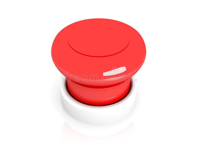 Download Red Pushbutton stock illustration. Image of electronic - 6513229
