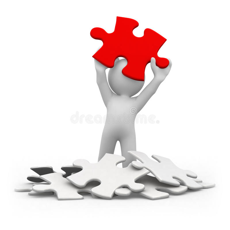 Red puzzle royalty free illustration