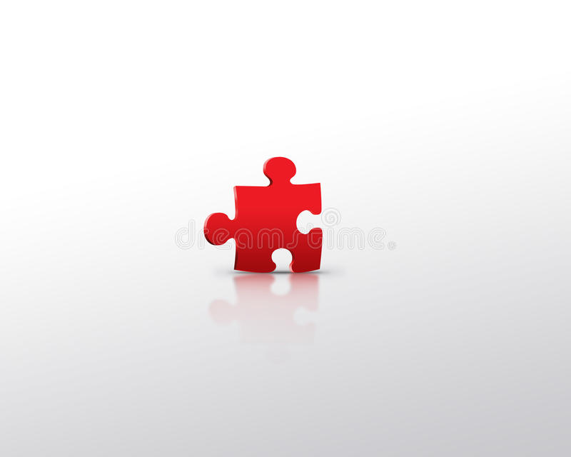 Download Red Puzzle Alone Stock Image - Image: 10363661