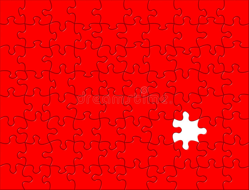 Red Puzzle background vector illustration