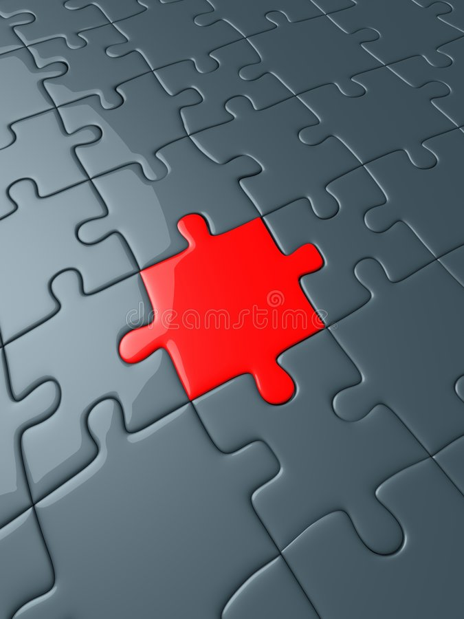 Download Red puzzle piece stock illustration. Image of concepts - 8173453