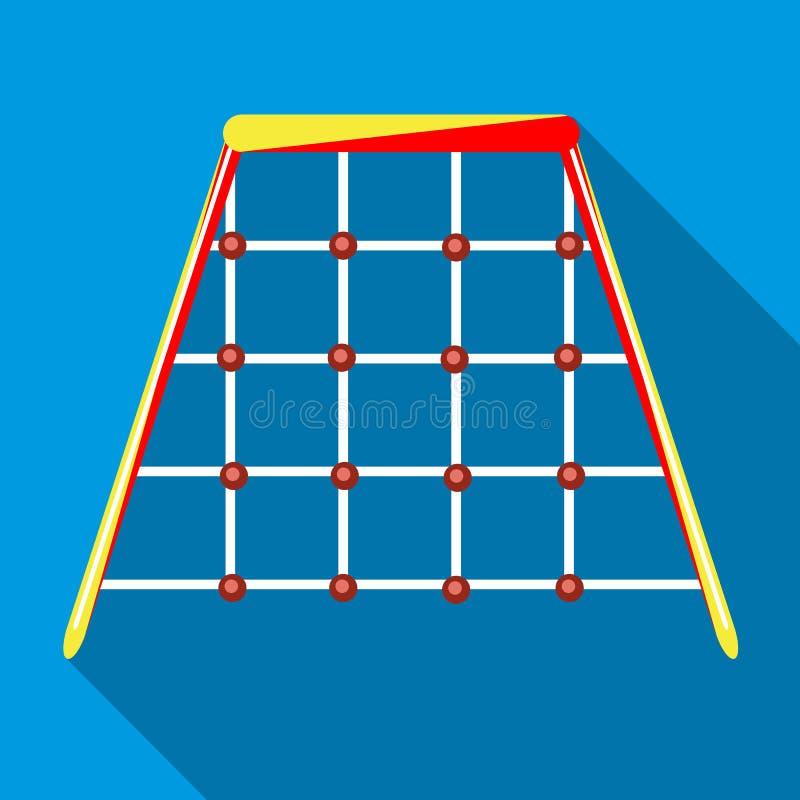 Red que sube en el icono del patio, estilo plano stock de ilustración