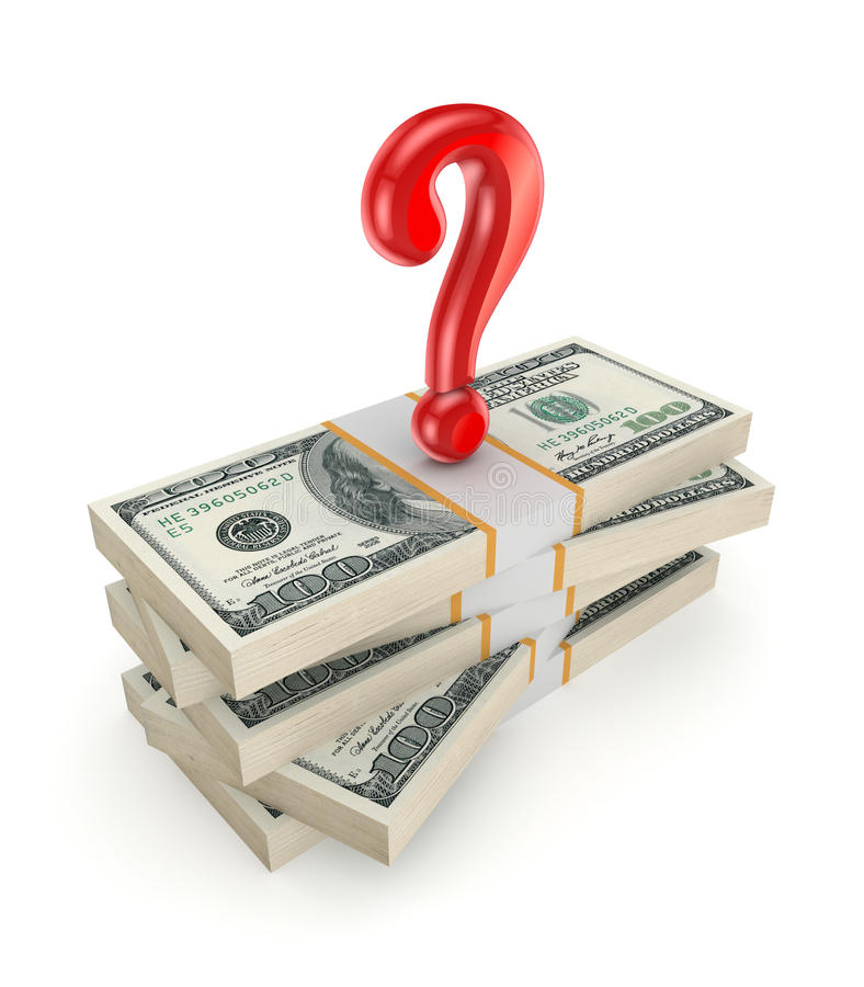 Free Red Query Mark On A Stack Of Dollars. Royalty Free Stock Images - 31611199