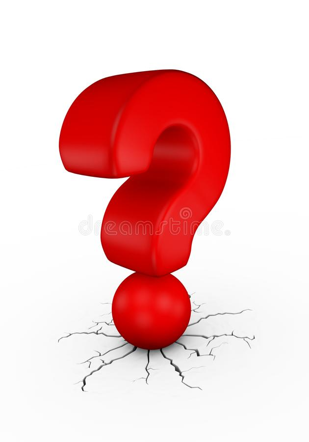 Download Red question mark stock illustration. Illustration of illustration - 23920150