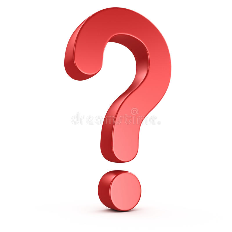 Red question mark royalty free illustration
