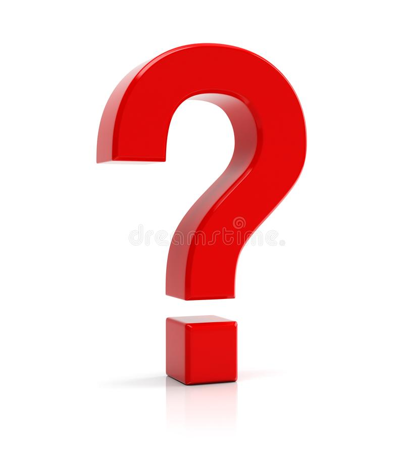 Free Red Question Mark Symbol Stock Photo - 99840980