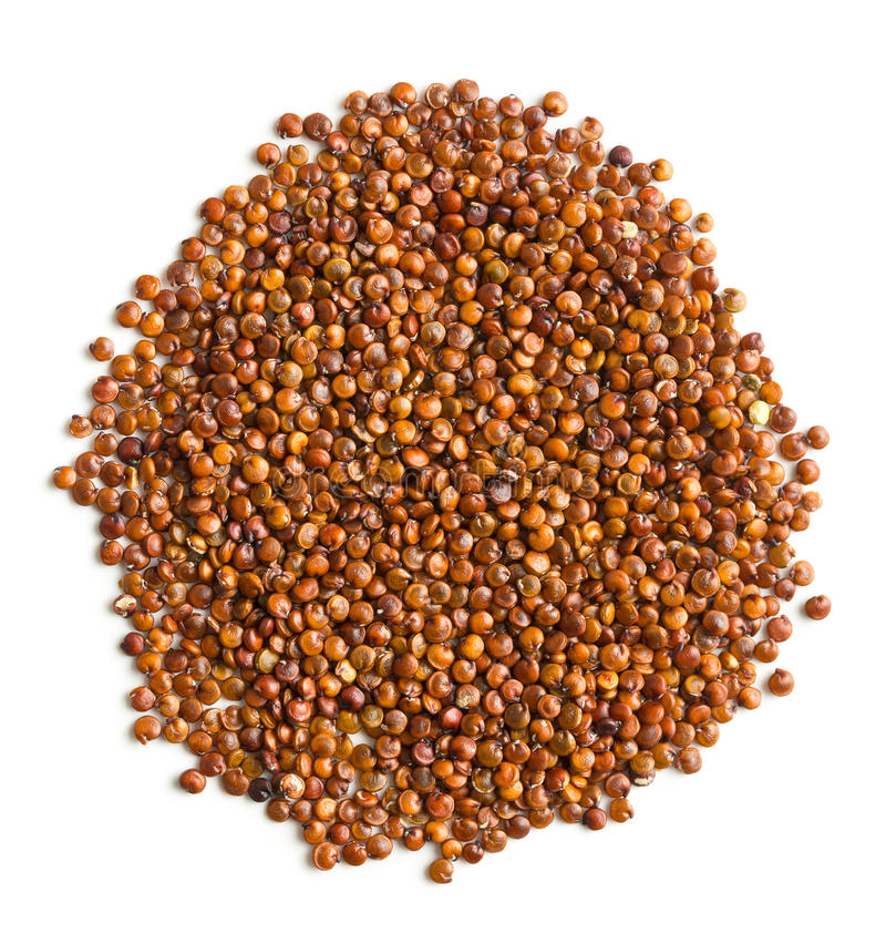 Red quinoa seeds. Isolated on white background stock photos