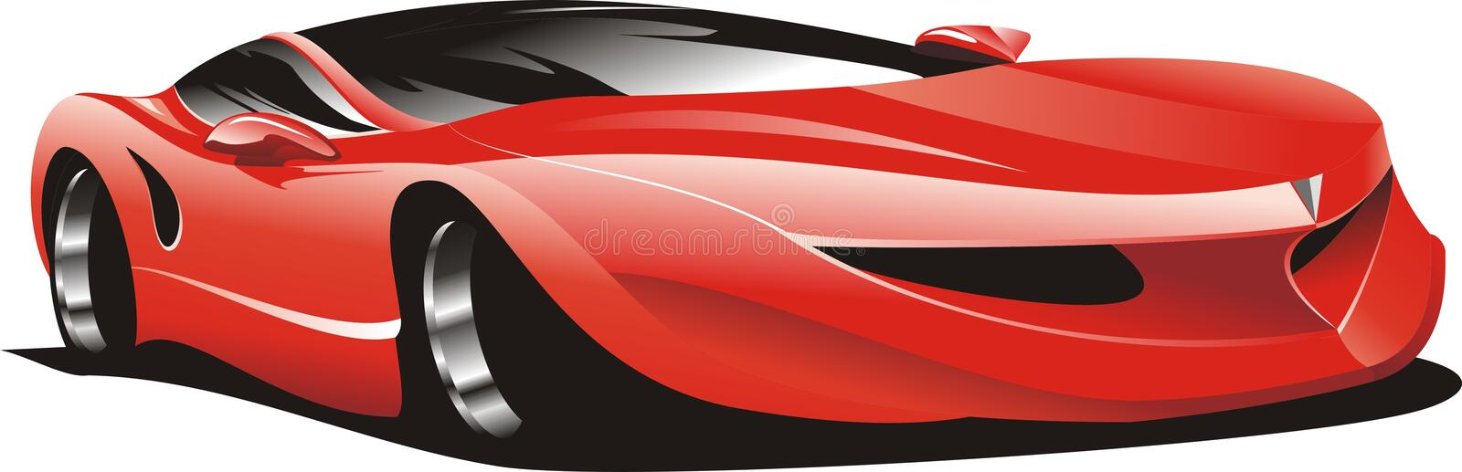 Download Red racing car stock vector. Illustration of glossy, vector - 13751289