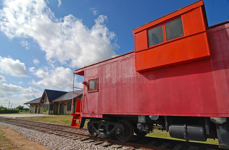 Download Red Railroad Caboose stock image. Image of vintage, restored - 14772413