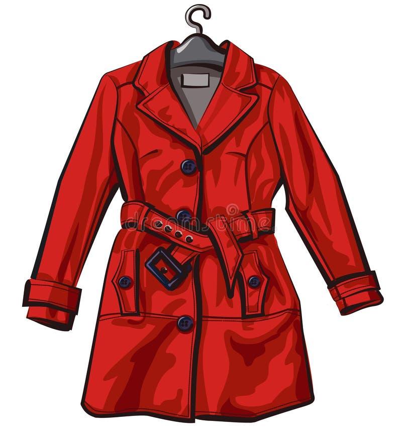 Red rain coat stock image