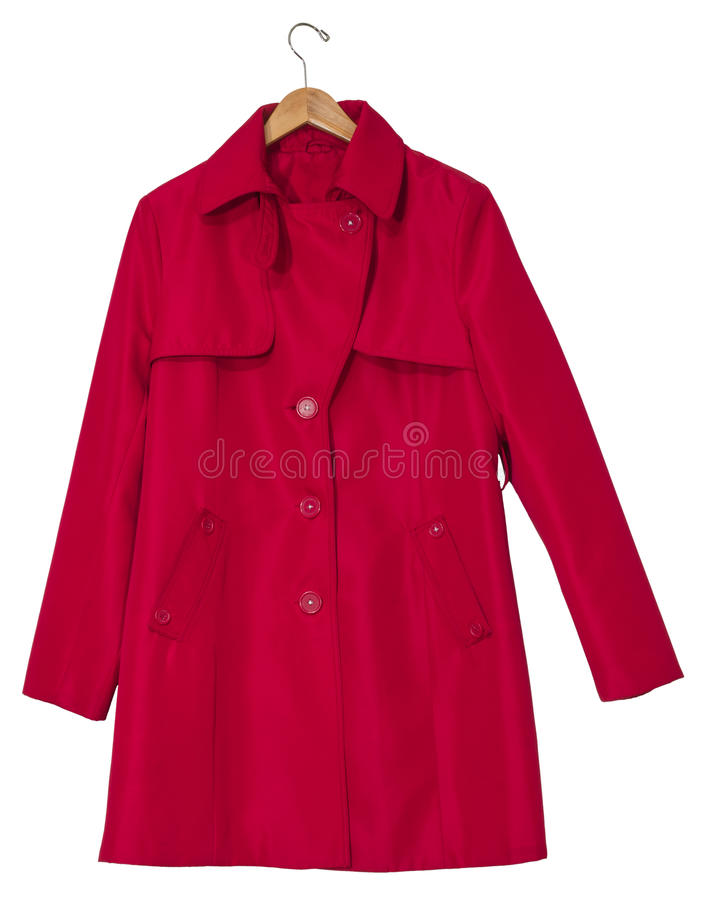 Download Red Raincoat On A Hanger Stock Photo - Image: 28659750