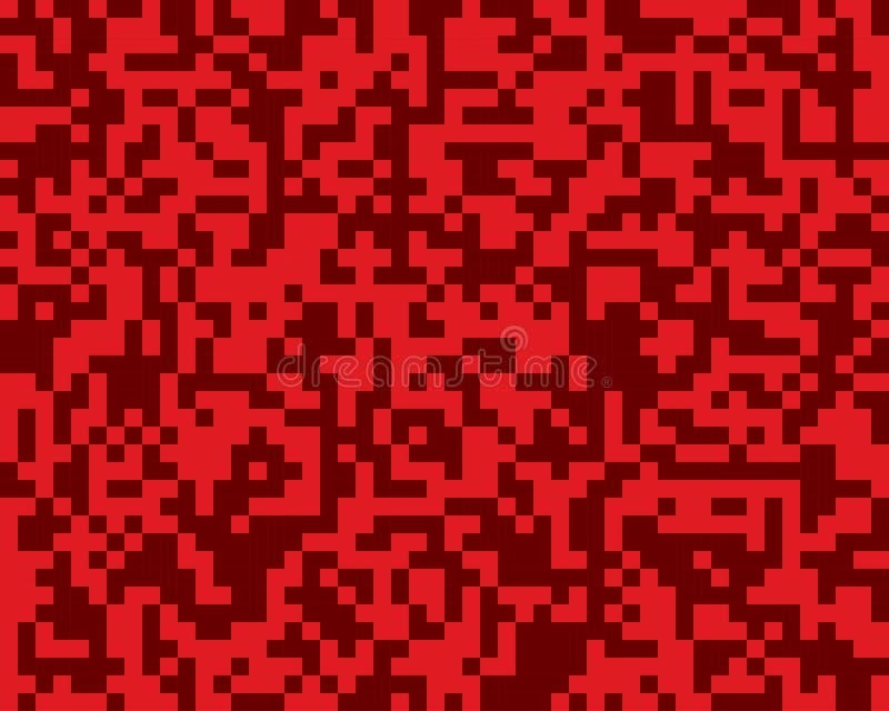 Red random squares mosaics or tiles banner. stock illustration