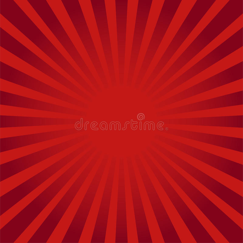 Red ray sunburst style abstract background royalty free illustration
