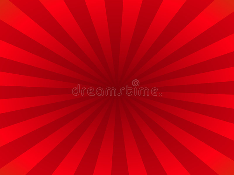Red rays stock illustration