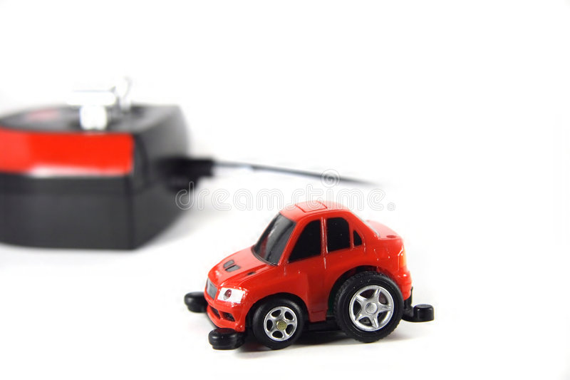 Red RC car royalty free stock photography