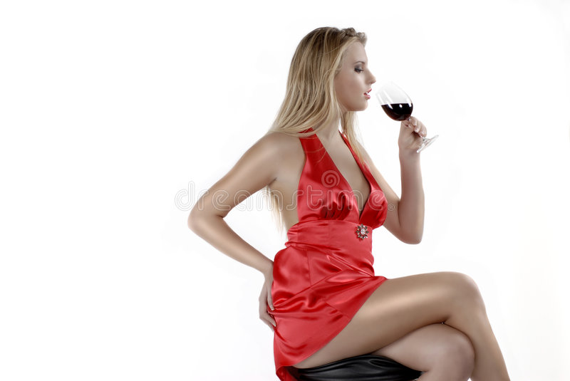 Red red wine stock image