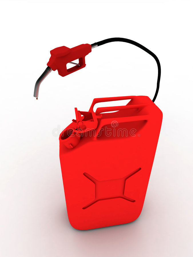 Red refueling hose