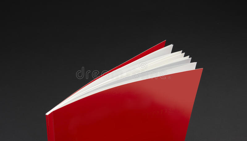 Red Report Cover Royalty Free Stock Images