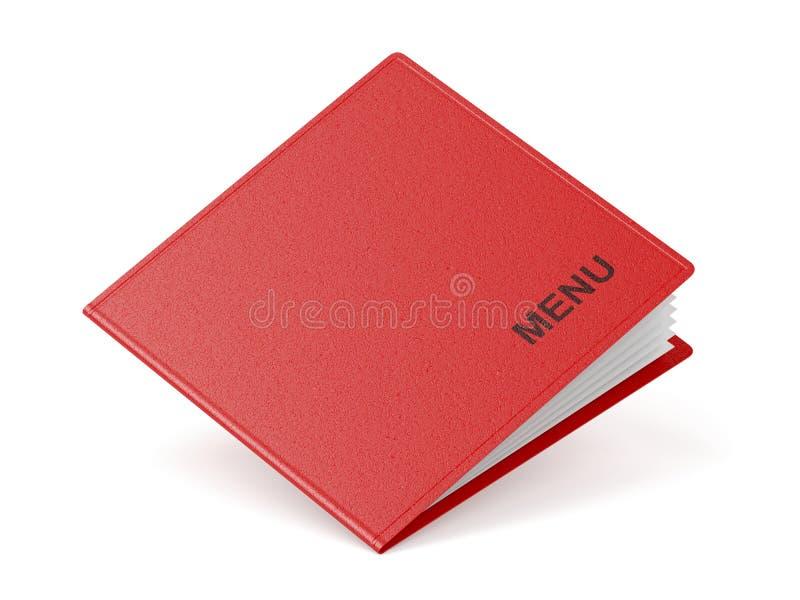 Red restaurant menu stock illustration