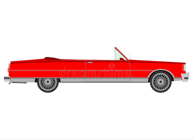Red Retro Cabriolet. Royalty Free Stock Photography