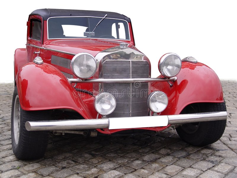 Red retro car royalty free stock photography