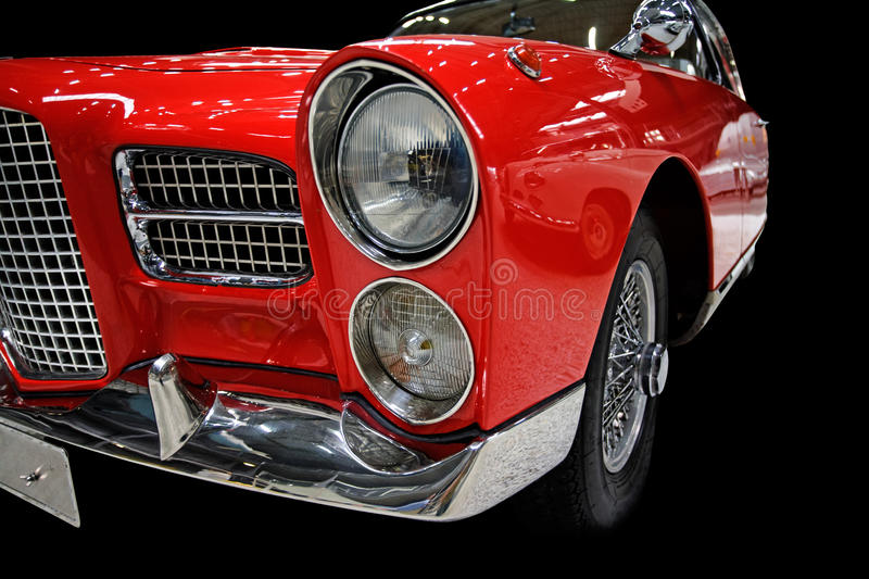Download Red Retro Car Isolated On Black Stock Image - Image: 11690503