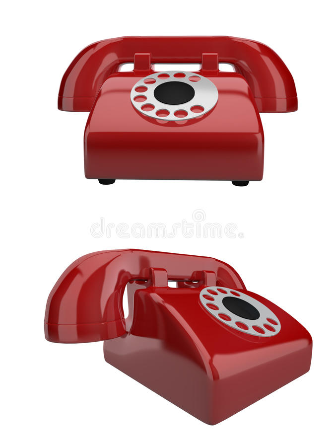 Download Red Retro Telephone stock illustration. Image of classic - 21180269