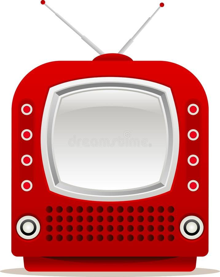 Download Red retro tv stock vector. Illustration of antenna, screen - 24896372