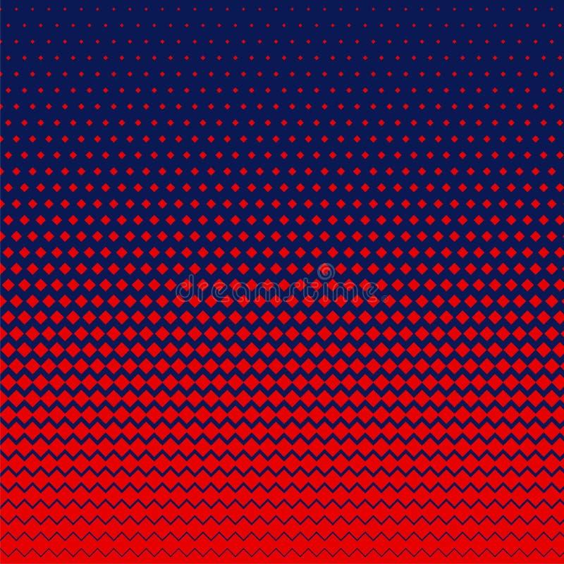 Red rhombus shape halftone background vector illustration
