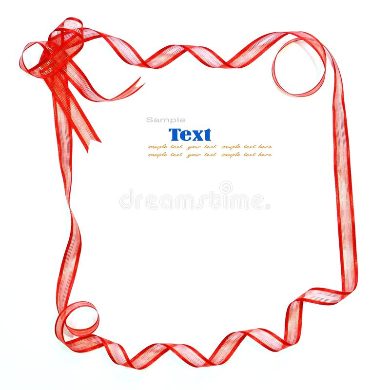 Download Red ribbon stock image. Image of curls, festive, frame - 16985615