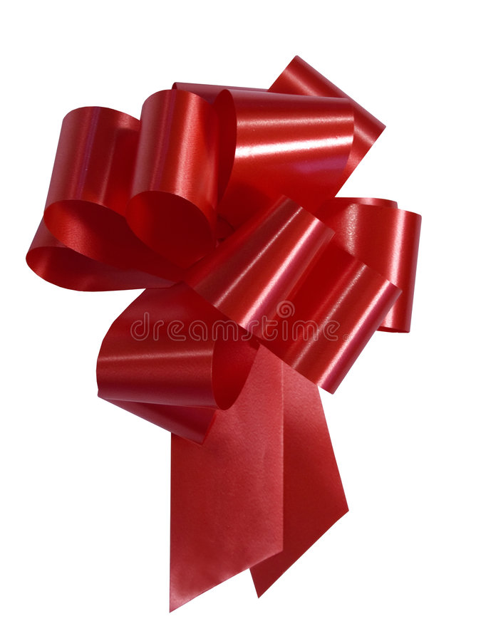 Download Red Ribbon stock image. Image of present, fancy, white, close - 96793