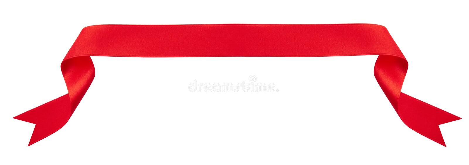 Red ribbon banner royalty free stock photo