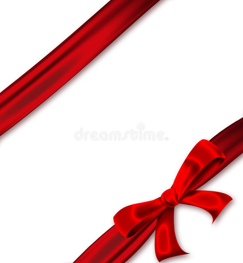 Download Red ribbon with a bow stock illustration. Image of present - 26134443